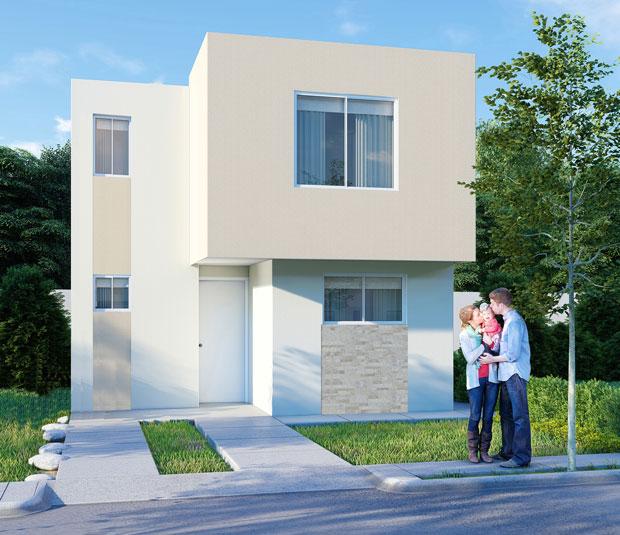 Casa en Saltillo modelo Castilla 7 en Los Llanos Residencial